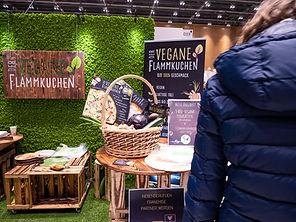 Veggieworld Wiesbaden 2020 Veganer Flammkuchen Messestand