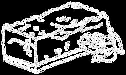 Ein Stück Speck gezeichnet