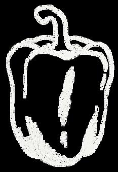 Paprika gezeichnet