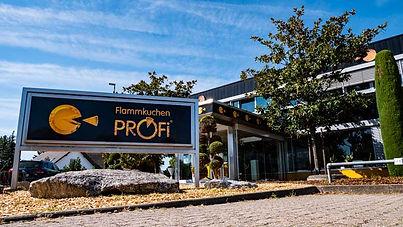 Flammkuchen Zenrale in Offenbach Pfalz Eingang Schild