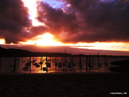 Sun and cloud in Bretagne
