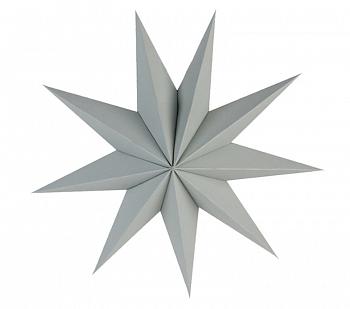 Звезда 30 см девятиконечная серая