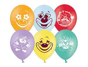 Букет из 10 латексных шаров рисунок Клоун
