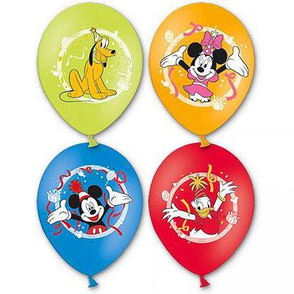 Букет из 10 латексных шаров рисунок Микки и Минни