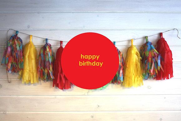 """Гирлянда тассел """"Happy birthday"""""""