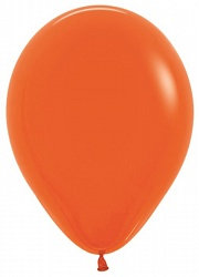 10 латексных шаров 30 см.,цвет оранжевый пастель