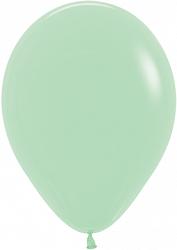 """10 латексных шаров 30 см., цвет светло-зеленый """"макарунс"""""""