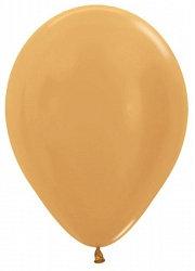 10 латексных шаров 30 см., цвет золотой