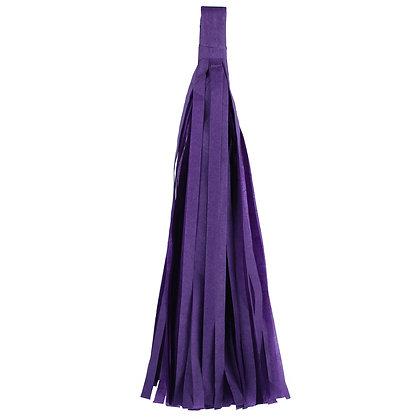 Кисточка Тассел, бумага Тишью, 30 см. фиолетовая