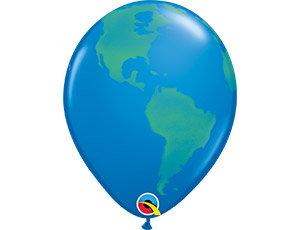 Букет из 10 латексных шаров рисунок Планета Земля