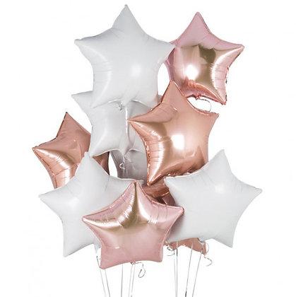 Букет Звёзды розовое золото и белый
