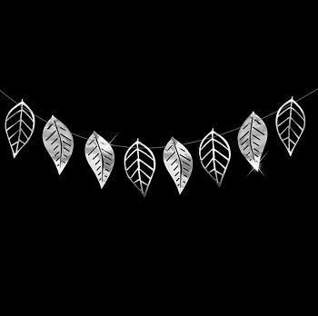 Гирлянда листья серебро