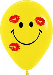 Букет из 10 латексных шаров Смайл Поцелуй