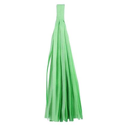 Кисточка Тассел, бумага Тишью, 30 см. светло-зелен