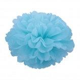 Помпон из бумаги, 15-50 см. голубой