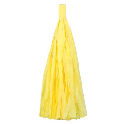 Кисточка Тассел, бумага Тишью, 30 см. желтая