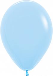 """10 латексных шаров 30 см., цвет светло-голубой """"макарунс"""""""