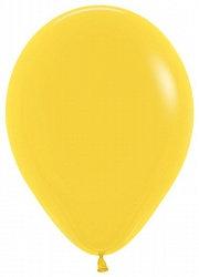 10 латексных шаров 30 см.,цвет желтый пастель