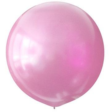 Большой шар розовый металлик