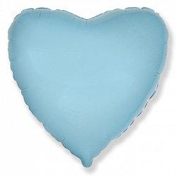 "Шар сердце 32"" (80 см.) светло-голубой"