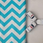 Стеганый плед для вигвама Blue Zigzag