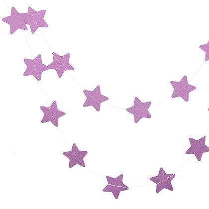 Гирлянда звезды блеск 2,5 м. сиреневый