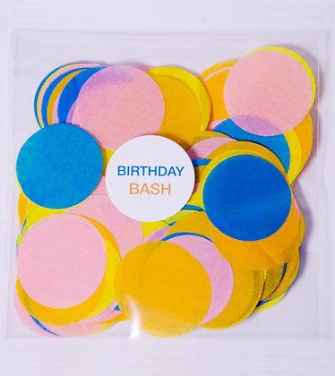Конфетти круг бум 4,5 см, 20 г. Birthday Bash