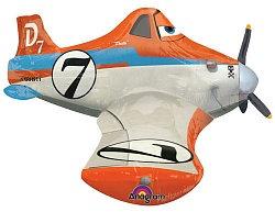 Ходячий фольгированный шар Самолет Дасти