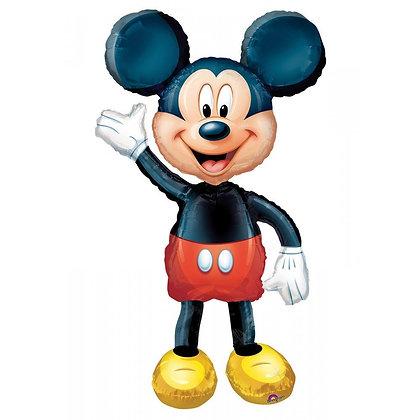 Ходячий фольгированный шар Микки Маус