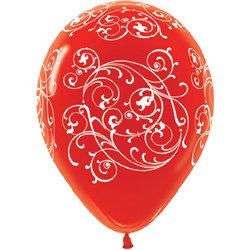 Букет из 10 латексных шаров с рисунком Узор