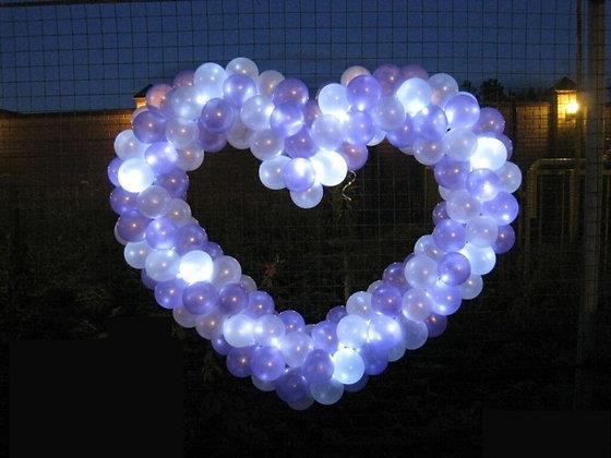 Сердце для запуска со светодиодами