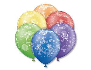 Букет из 10 латексных шаров рисунок Дети/спорт