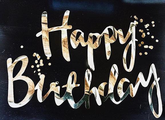 Бумажная гирлянда Happy Birthday золото