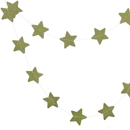 Гирлянда звезды блеск 2,5 м. зеленый