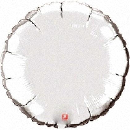 """Шар круг 32"""" (80 см.) серебро"""