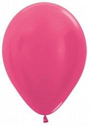 10 латексных шаров 30 см.,цвет фуксия металл