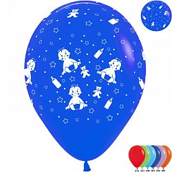 Букет из 10 латексных шаров с рисунком Малыш