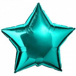 """Шар звезда 18"""" (45 см.) мятная"""