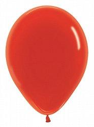 10 латексных шаров 30 см.,цвет красный кристал