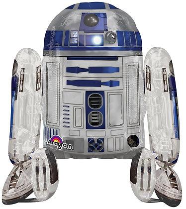 Ходячий фольгированный шар Звездные войны R2D2
