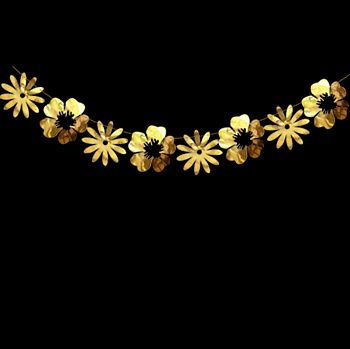 Гирлянда цветы золотые