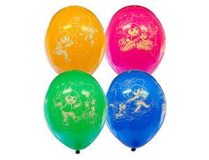 Букет из 10 латексных шаров с рисунком Даша
