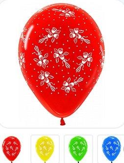 Букет из 10 латексных шаров с рисунком Розы
