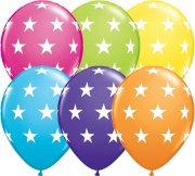 Букет из 10 латексных шаров рисунок Звезды