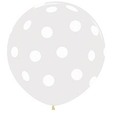 Большой шар 90 см. принт Polka dot цвет прозрачный