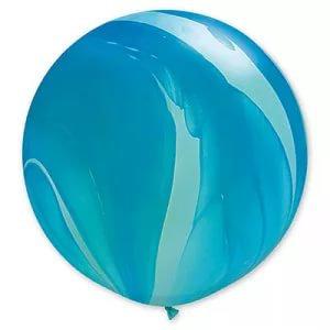 Большой шар Агат 90 см. синий