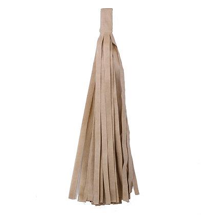 Кисточка Тассел, бумага Тишью, 30 см. светло-корич