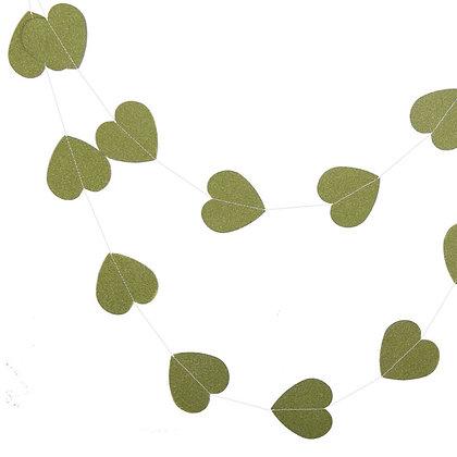 Гирлянда сердца блеск 2,5 м. зеленый