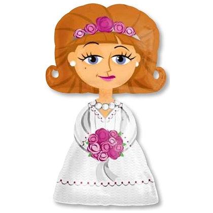 Ходячий фольгированный шар Невеста