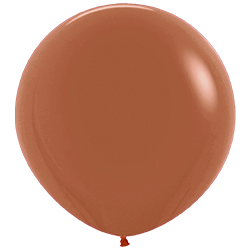 Большой шар медный металлик
